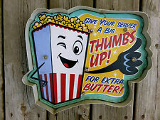Movie Theater LED Metal Sign Popcorn snack Vintage Home Theatre  Cinema New
