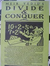 """+==  Meir Yedid's """"Divide & Conquer"""" magic trick"""
