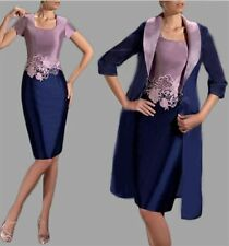Two Tone Mother Of The Bride Outfits with Long Jacket Women Formal Wedding Dress