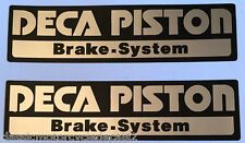 SUZUKI RG400 RG500 GSXR750 GSXR1100 DECA PISTON FORK CAUTION WARNING DECALS X 2