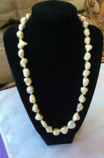 Simulated Baroque Style Pearl  Bead Necklace