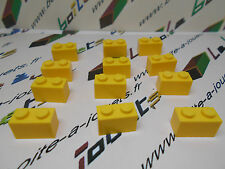 lego lot de 12 x briques 1x2  brick jaune / yellow ref: 3004