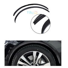 2pcs Wheel-arch trim Wide Fender Flare Extension Black Protector Lip