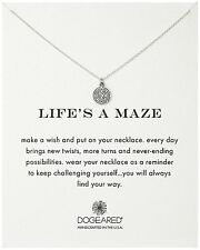 "Dogeared Life's A Maze Sterling Silver Reminder 16"" Necklace"