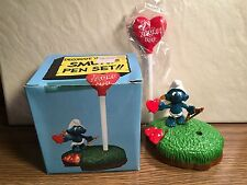 SMURF - I LOVE YOU - PEN SET - NEVER USED - MINT in BOX