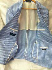 Haspel men's blazer sport jacket 100% linen size 44 L