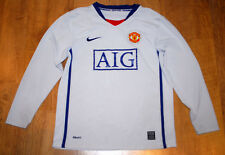 Nike Manchester United 2008-2009 long-sleeved away shirt (Size LB )