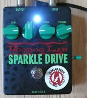Voodoo Lab Sparkle Drive Overdrive Alchemy Audio Modified Guitar Effects Pedal