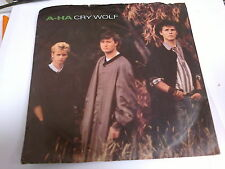 """A-HA - CRY WOLF - 7"""" SINGLE - (PICTURE SLEEVE)"""