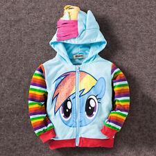 Girls Kids Toddler Hoodie My Little Pony Wings Sweatshirt Coat Zip Jacket 0-8Y