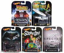 HOT WHEELS RETRO ENTERTAINMENT CASE B 2016 SET OF 5 TIME MACHINE 1/64 DMC55-959B