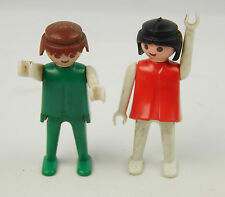 Vintage Pair (2) 1974 Playmobil Geobra Figures Fair Condition