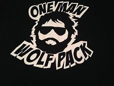 The Hangover Movie One Man Wolf Pack T shirt Tee Black White Cotton Adult Large