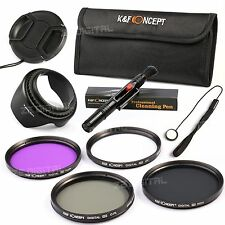 9in1 67mm UV CPL FLD ND4 Filter Kit For Sony Nikon Canon DSLR Lens Hood Cap Pen