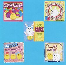 15 Hoppy Easter Bunny and Chicks  - Large Stickers - Party Favors
