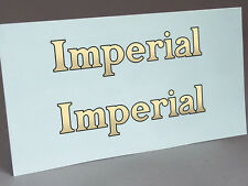 2 WATER SLIDE DECALS OF IMPERIAL LOGO, LETTERS FOR TYPEWRITER RESTORATION