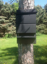 ^v^ ^v^ LARGE BLACK KEVLAR LINED BAT HOUSE BOX WITH PREDATOR GUARD