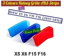 3D 3 Colours Kidney Grille Plastic Cover Strips Clip BMW X5 X6 F15 F16 2014-2016