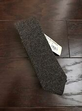 NWT Brunello Cucinelli 100% Cashmere Brown Skinny Knit Tie ~ 54 X 2.5 Italy