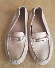 COACH Nola Women's Size 8 tan Suede Loafers Moccasin Shoes Flats