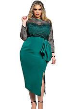Abito Rete nudo aderente Taglie forti Grandi Curvy Formosa Plus Size Dress XXXL