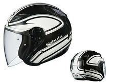 NEW OGK KABUTO AVAND2 STAID WHITE BLACK XL Open Face Helmet Japanese Model