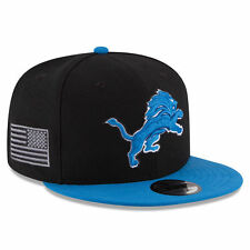 Detroit Lions New Era MADE IN AMERICA 9Fifty Snapback Hat - Black