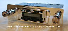 Radio & Fascia suit XK & Early USA Falcon. 300Watt, AM/FM, USB.