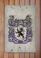 Long Coat of Arms A4 Aged Retro 10x8 Metal Sign Aluminium Heraldry