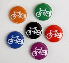 6 BICYCLES Buttons Pinbacks Badges 1 inch Bike Symbol Color