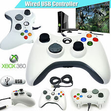NEW WHITE WIRED USB CONTROLLER FOR MICROSOFT XBOX 360 PC WINDOWS UK Seller
