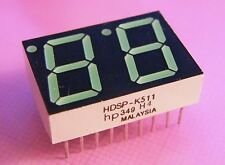 4x HDSP-K511 14.2 mm Two Digit Display, Common Anode Green 571nm, HP