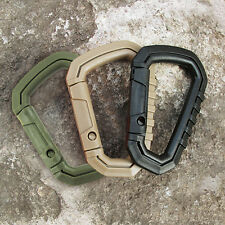 4Pcs Outdoor Camping Buckle Snap Plastic Carabiner D-Ring Key Chain Clip Hook