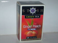 STASH GREEN TEA GINGER PEACH WITH MATCHA JAPANESE CEREMONY 100% NATURAL 18 BAGS