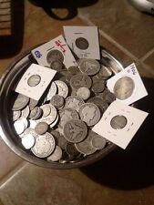 ONE ounce lot JUNK scrap LOT of barber coins hard to come by! 90% silver!