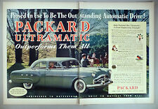Packard Ultramatic 2-Page PRINT AD - 1952