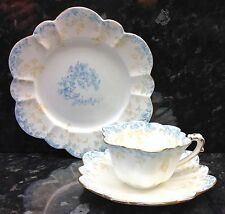 "Wileman Empire Shape ""Ivy"" Pattern Tea Cup Trio."