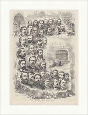 Die Mitglieder der Kommune von Paris Frankreich Milliere Vales Holzstich E 18092