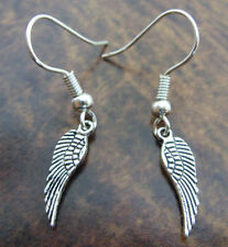 A Pair of Ladies * Angel Wings * Tibetan Silver Earrings, Kitsch, Retro Vintage
