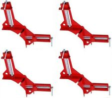 "Set Of 4 Corner Clamps 90° Angles 3"" Clamp Capacity Woodworking Vise Miter"
