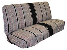 1940 - 1991 Ford Full Size Truck Bench Saddleblanket Seat Covers (Black)