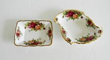 Pair of Royal Albert condiment or candy dishes - Old Country Rose