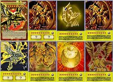 Yugioh Orica THE WINGED DRAGON OF RA Anime Art Set of 8 cards