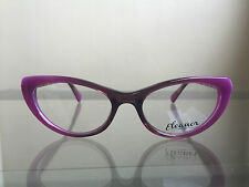bagsclothesetc: NEW ELEANOR Drama Women's Plum Purple Cat Eye Eyeglass Frames