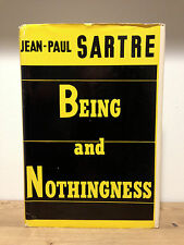 BEING AND NOTHINGNESS Jean Paul Sartre 1st American Edition 1956 philosophy HCDJ