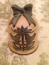 Vintage 1970's UCTCI Japan art pottery bell birds bow label