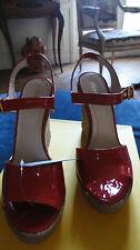 Sandales neuves FENDI rouges T 40 cuir avec boite collaboration CASTANER