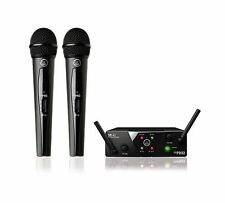 NEW AKG WMS40 MINI2 Dual Vocal Handheld Microphone Mic Wireless System -Dealer-