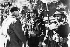 WW2 - Le Général Juin félicite les Tabors  en Italie