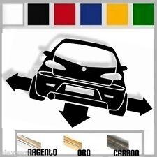 adesivo sticker alfa romeo 147 tuning down-out dub prespaziato,auto